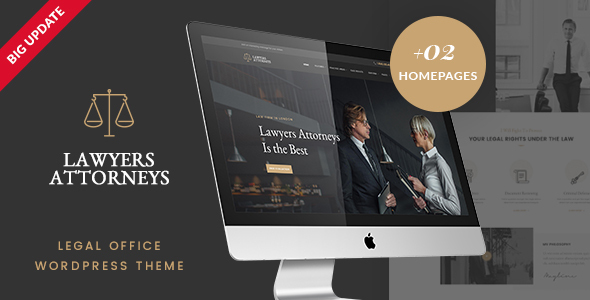 Lawyer Attorneys - Law Firm Office WordPress Theme