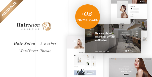 Hair Salon - Barber & Beauty Shop WordPress Theme