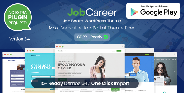 JobCareer   Job Board Responsive WordPress Theme 4