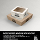 Paper Tapered Window Boxes Packaging Mockup - GraphicRiver Item for Sale