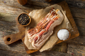 Raw Organic Uncured Salty Bacon - PhotoDune Item for Sale