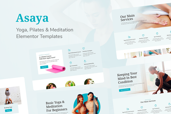 Asaya - Yoga & Meditation Elementor Kit