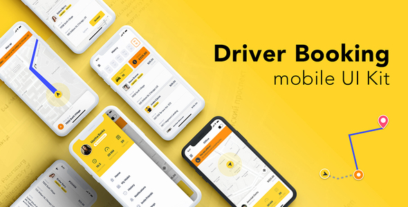 Review: Driver Booking UI Kit for Adobe XD free download Review: Driver Booking UI Kit for Adobe XD nulled Review: Driver Booking UI Kit for Adobe XD