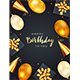 Birthday Gift Boxes with Golden Balloons on Dark Background - GraphicRiver Item for Sale
