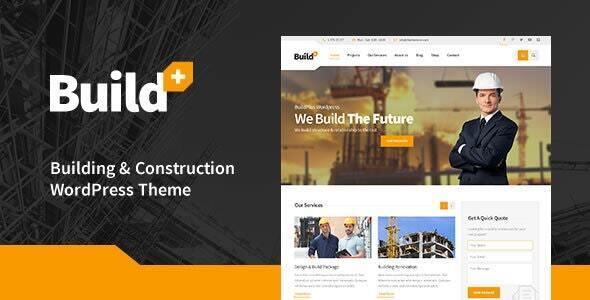 BuildPlus - Engineering Construction Building WordPress Theme