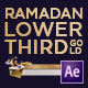 Ramadan Lower Third Gold - VideoHive Item for Sale