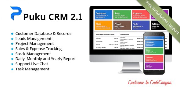 Puku CRM - Realtime Open Source CRM