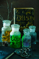 witch apothecary jars magic potions halloween decoration - PhotoDune Item for Sale