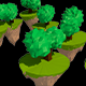 Low Poly Trees hovering - 3DOcean Item for Sale
