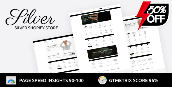 Silver Store Shopify Theme - Jewelry Store Gemstone, Wedding, Watches Template
