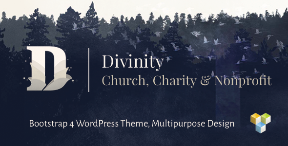 Divinity - Church, Nonprofit, Charity Events & Donations Bootstrap 4 WordPress Theme