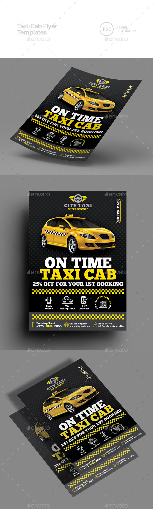 Taxi/Cab Flyer Templates
