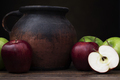 Old Pottery Jug and Apples - PhotoDune Item for Sale