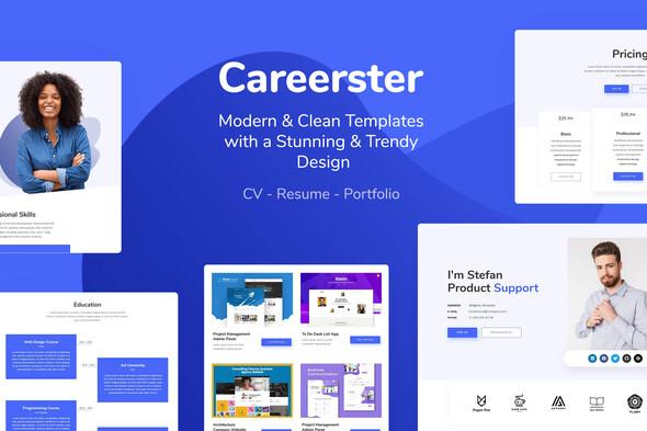 Careerster - CV/Resume Elementor Templates