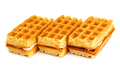 Waffle Cookies Stacked Isolated On White Background - PhotoDune Item for Sale