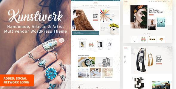 Kunstwerk - Handycraft Marketplace WordPress Theme