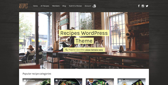 Recipes - WordPress Theme