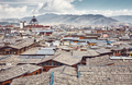 Roofs of Dukezong, Shangri La old town skyline, China. - PhotoDune Item for Sale