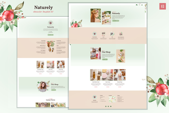 Naturely - Natural Cosmetics & Beauty Template Kit
