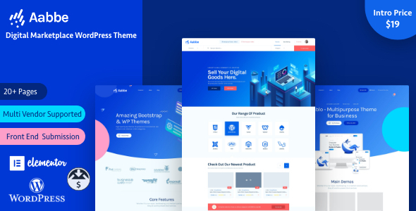 Aabbe – Digital Marketplace WordPress Theme Preview