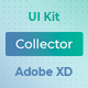 Collector – Web Wireframe UI Kit for AdobeXD - ThemeForest Item for Sale