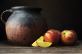 Fresh Whole and Sliced Nectarines with Jugs - PhotoDune Item for Sale