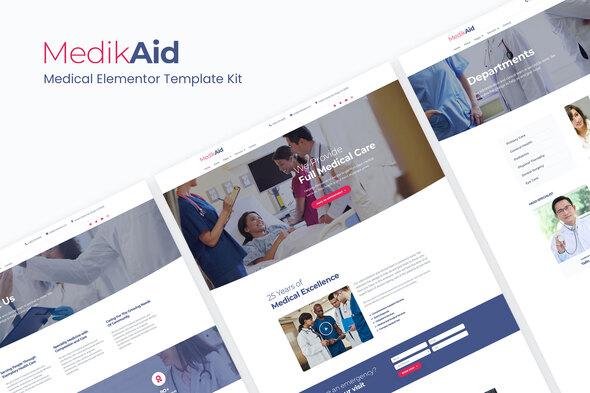 MedikAid | Medical Healthcare Elementor Template Kit