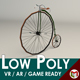 Low Poly Antique Bike - 3DOcean Item for Sale