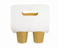 Paper Cups and Holder With Handle on White Background - PhotoDune Item for Sale