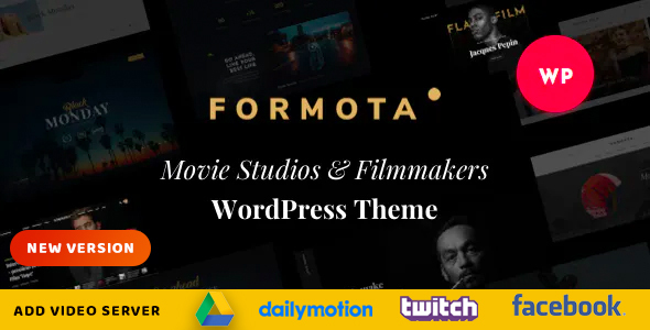 Formota - Movie Studios & Filmmakers WordPress theme