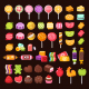 Isolated Sweets and Candies for Halloween and Valentine Day. - GraphicRiver Item for Sale