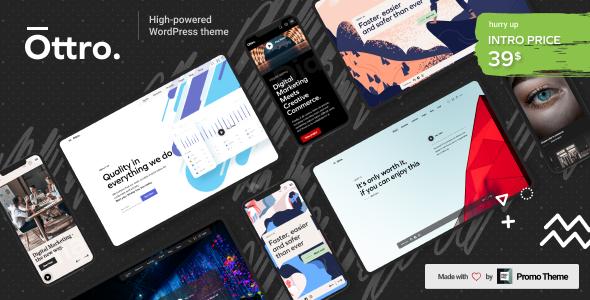 Ottro – Portfolio & MultiPurpose WordPress Preview