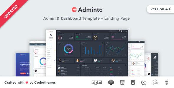 Adminto – Admin Dashboard Template