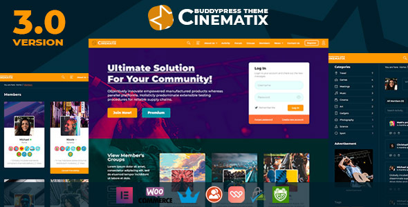 Cinematix - BuddyPress Nouveau Membership Theme Download