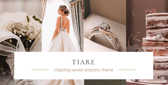 Tiare – Wedding Vendor Directory Theme Preview