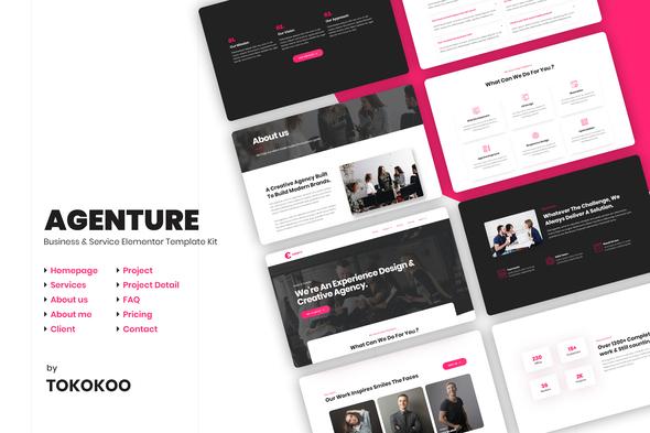 Agenture | Agency Elementor Template Kit