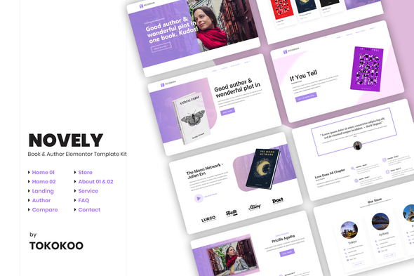 Novely | Book Elementor Template Kit