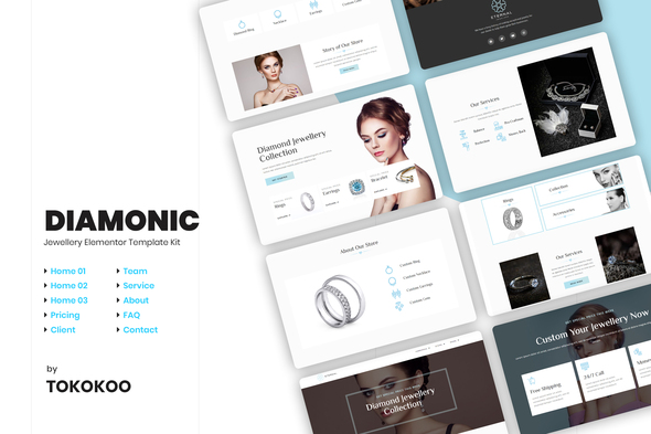 Diamonic | Jewellery Elementor Template Kit