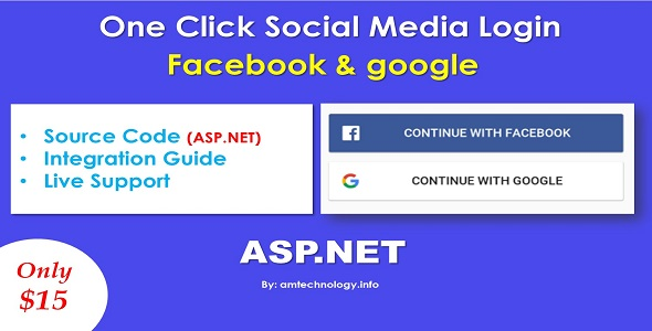 Facebook and Google login in asp.net Download