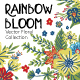 Rainbow Bloom - Floral Collection - GraphicRiver Item for Sale