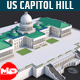 Low Poly United States Capitol Hill Landmark - 3DOcean Item for Sale