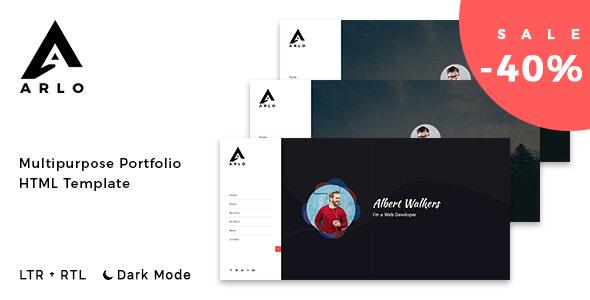 Arlo - Personal / Portfolio / Resume Template + RTL