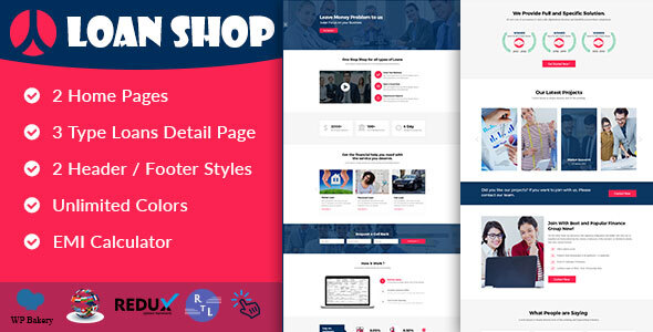 LoanShop – Loan Company & Finance Advisor WordPress Theme