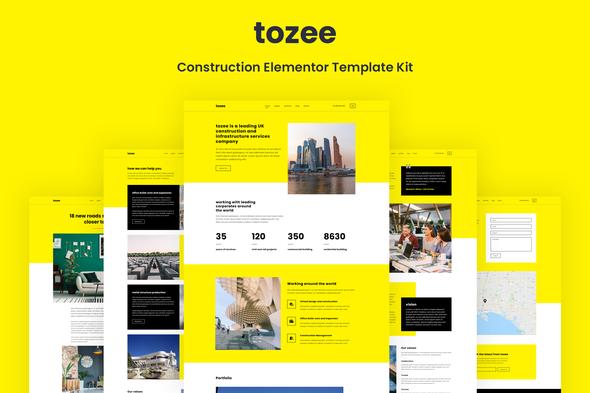Tozee - Construction Elementor Template Kit