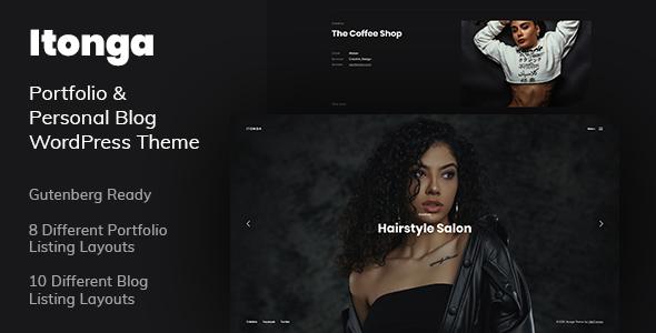Itonga – Portfolio & Personal Blog WordPress Theme Preview