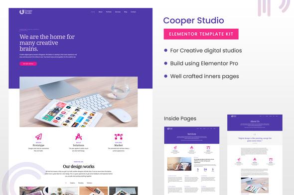 Cooper Studio Elementor Template Kit