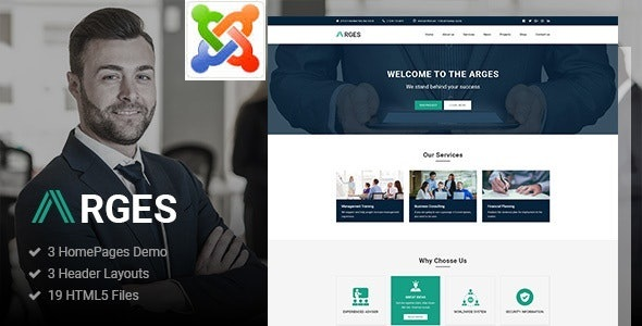 Download Arges - Corporate & Business Joomla Template