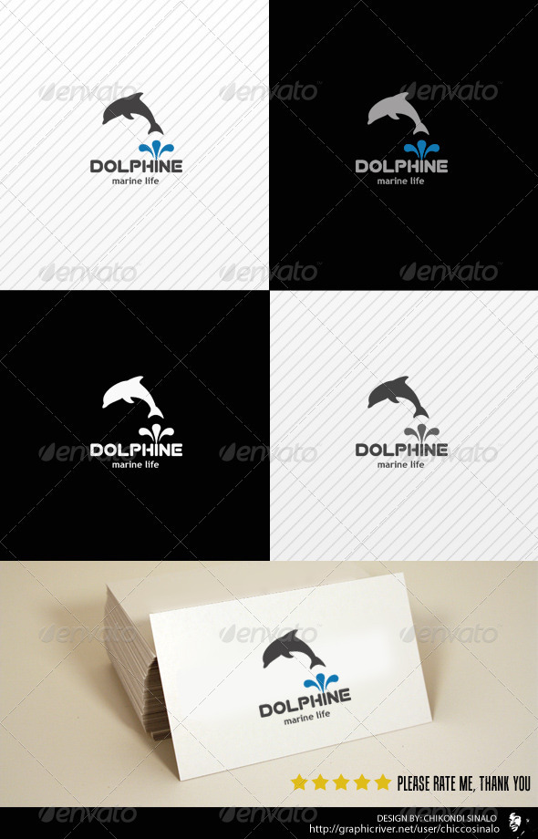 Dolphine Logo Template