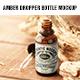 Amber Dropper bottle Mockup - GraphicRiver Item for Sale