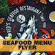 Seafood Flyer Menu - GraphicRiver Item for Sale